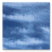 Blue Clouds Stretched Canvas 14X14 Wall Decor