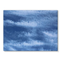 Blue Clouds Stretched Canvas 24X18 Wall Decor