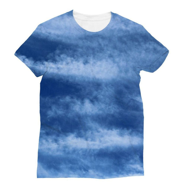 Blue Clouds Sublimation T-Shirt Xs Apparel