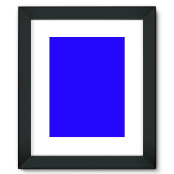 Blue Color Framed Fine Art Print 12X16 / Black Wall Decor