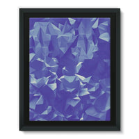 Blue Crystal Shape Pattern Framed Eco-Canvas 11X14 Wall Decor
