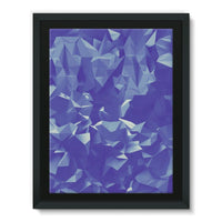 Blue Crystal Shape Pattern Framed Eco-Canvas 18X24 Wall Decor