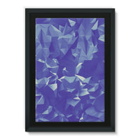 Blue Crystal Shape Pattern Framed Eco-Canvas 24X36 Wall Decor