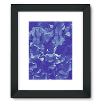 Blue Crystal Shape Pattern Framed Fine Art Print 12X16 / Black Wall Decor