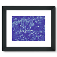 Blue Crystal Shape Pattern Framed Fine Art Print 16X12 / Black Wall Decor