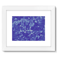 Blue Crystal Shape Pattern Framed Fine Art Print 16X12 / White Wall Decor