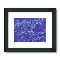 Blue Crystal Shape Pattern Framed Fine Art Print 32X24 / Black Wall Decor