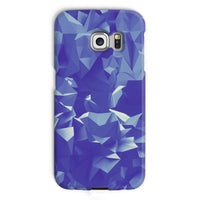 Blue Crystal Shape Pattern Phone Case Galaxy S6 Edge / Snap Gloss & Tablet Cases