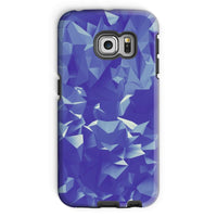 Blue Crystal Shape Pattern Phone Case Galaxy S6 Edge / Tough Gloss & Tablet Cases