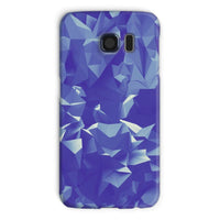 Blue Crystal Shape Pattern Phone Case Galaxy S6 / Snap Gloss & Tablet Cases