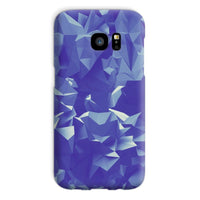 Blue Crystal Shape Pattern Phone Case Galaxy S7 / Snap Gloss & Tablet Cases
