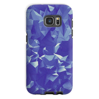 Blue Crystal Shape Pattern Phone Case Galaxy S7 / Tough Gloss & Tablet Cases