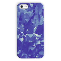 Blue Crystal Shape Pattern Phone Case Iphone 5C / Snap Gloss & Tablet Cases