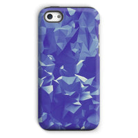 Blue Crystal Shape Pattern Phone Case Iphone 5C / Tough Gloss & Tablet Cases