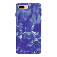 Blue Crystal Shape Pattern Phone Case Iphone 8 Plus / Tough Gloss & Tablet Cases