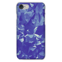 Blue Crystal Shape Pattern Phone Case Iphone 8 / Snap Gloss & Tablet Cases