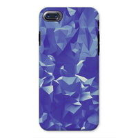 Blue Crystal Shape Pattern Phone Case Iphone 8 / Tough Gloss & Tablet Cases