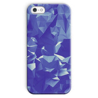 Blue Crystal Shape Pattern Phone Case Iphone Se / Snap Gloss & Tablet Cases