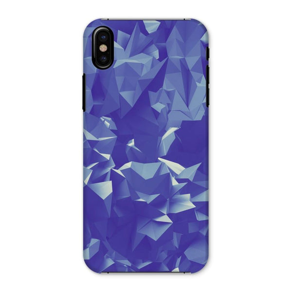 Blue Crystal Shape Pattern Phone Case Iphone X / Snap Gloss & Tablet Cases