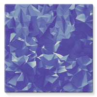 Blue Crystal Shape Pattern Stretched Canvas 10X10 Wall Decor