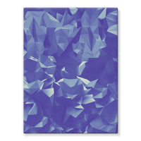 Blue Crystal Shape Pattern Stretched Canvas 12X16 Wall Decor