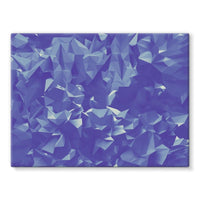 Blue Crystal Shape Pattern Stretched Canvas 24X18 Wall Decor