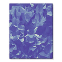 Blue Crystal Shape Pattern Stretched Eco-Canvas 11X14 Wall Decor