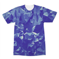 Blue Crystal Shape Pattern Sublimation T-Shirt Xs Apparel