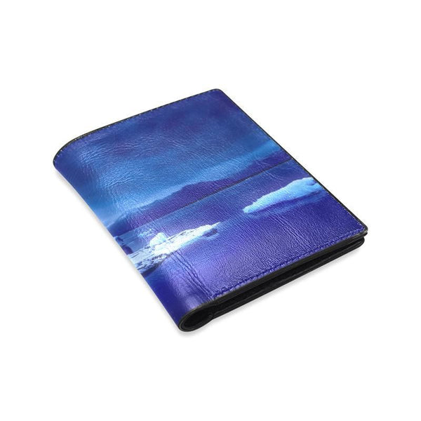 Blue Iceland Winter Landscape Mens Leather Wallet (1612)