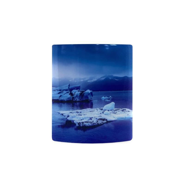Blue Iceland Winter Landscape White Mug (11Oz)