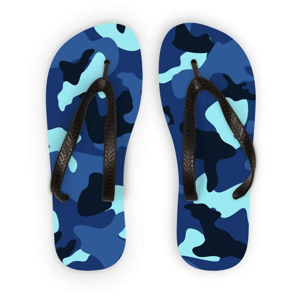 Blue Marine Army Camo Flip Flops S Accessories
