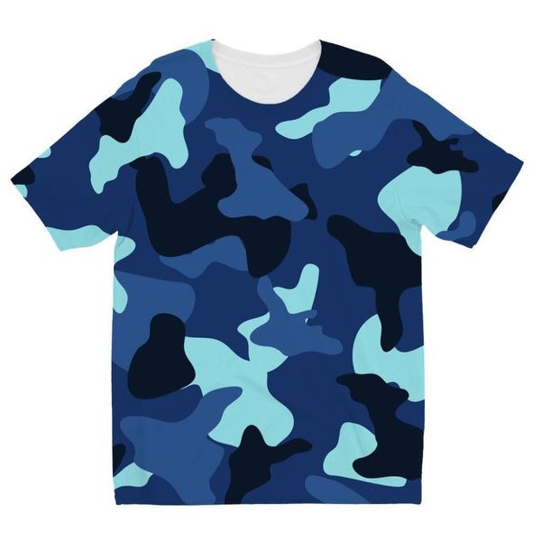 Blue Marine Army Camo Kids Sublimation T-Shirt 3-4 Years Apparel