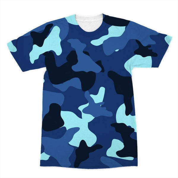 Blue Marine Army Camo Sublimation T-Shirt Xs Apparel