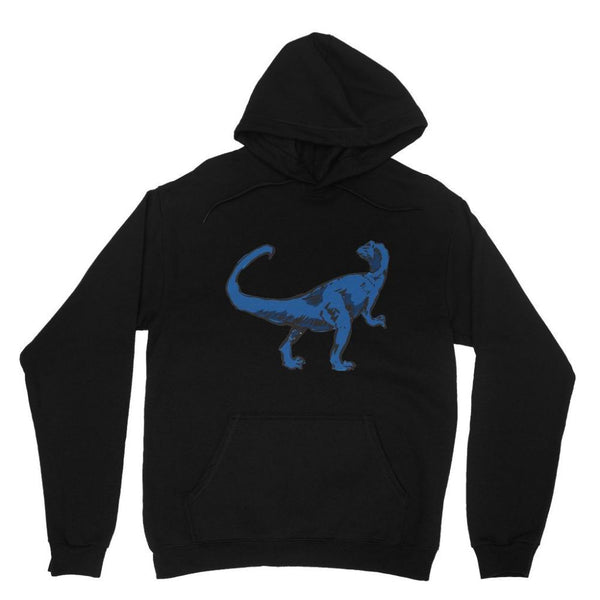 Blue Tiranosaurio Dinosaur Heavy Blend Hooded Sweatshirt Xs / Black Apparel