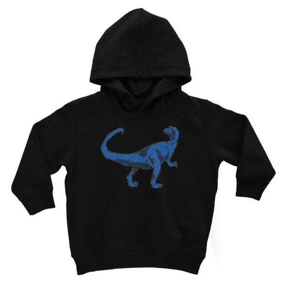 Blue Tiranosaurio Dinosaur Kids Hoodie 3-4 Years / Jet Black Apparel