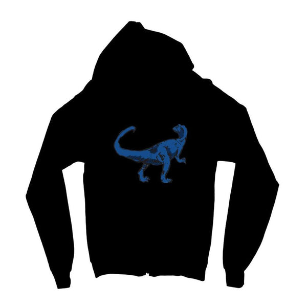 Blue Tiranosaurio Dinosaur Kids Zip Hoodie 3-4 Years / Jet Black Apparel