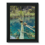 Blue Water Lake Framed Canvas 12X16 Wall Decor
