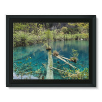 Blue Water Lake Framed Canvas 16X12 Wall Decor