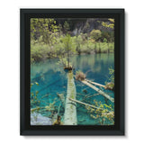 Blue Water Lake Framed Eco-Canvas 11X14 Wall Decor