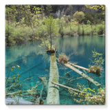 Blue Water Lake Stretched Canvas 14X14 Wall Decor
