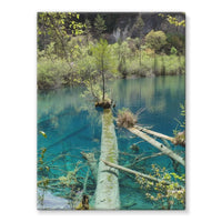 Blue Water Lake Stretched Canvas 24X32 Wall Decor