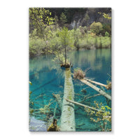 Blue Water Lake Stretched Canvas 24X36 Wall Decor