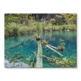 Blue Water Lake Stretched Canvas 32X24 Wall Decor