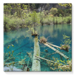 Blue Water Lake Stretched Eco-Canvas 10X10 Wall Decor