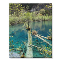 Blue Water Lake Stretched Eco-Canvas 11X14 Wall Decor