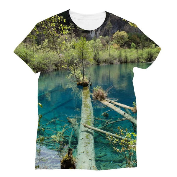 Blue Water Lake Sublimation T-Shirt Xs Apparel