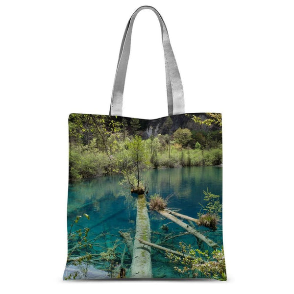 Blue Water Lake Sublimation Tote Bag 15X16.5 Accessories
