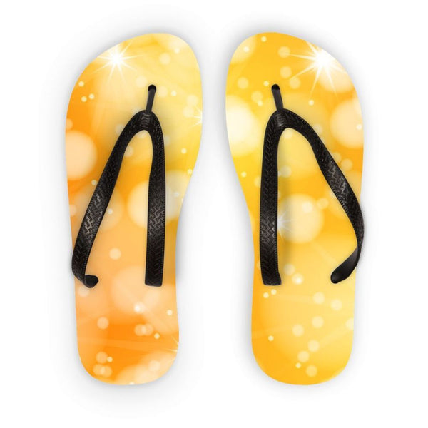 Blurred Sunshine Bubbles Flip Flops S Accessories