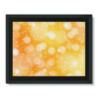Blurred Sunshine Bubbles Framed Canvas 16X12 Wall Decor