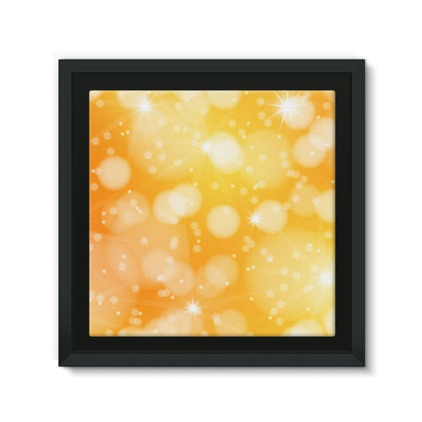 Blurred Sunshine Bubbles Framed Eco-Canvas 10X10 Wall Decor